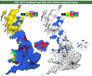 prompted theresa may to call for an early election chart p2a shows the extent of the conservative gains which are highlighted in the right hand chart